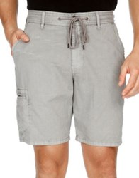 Lucky Brand Rip Stop Utility Shorts Frost Gray
