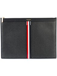 Thom Browne Medium Zipper Document Holder 35X25 Cm With Red White
