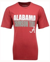 Colosseum Men's Alabama Crimson Tide Wordmark Stack T Shirt