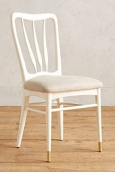 Anthropologie Lacquered Haverhill Dining Chair Cream