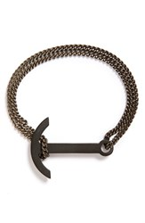 Men's Miansai 'Modern' Anchor Pendant Bracelet Oxidized