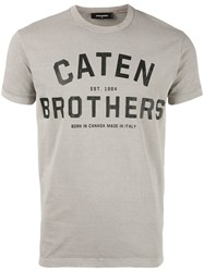 Dsquared2 Caten Brothers T Shirt Nude Neutrals