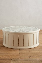 Anthropologie Lacework Coffee Table Cream
