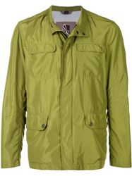 Sealup Pocket Front Shirt Jacket Green