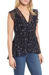 Chelsea 28 Chelsea28 High Low Chiffon Top Navy Well Falling Anise