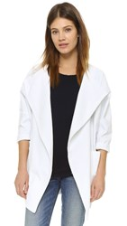 James Jeans Cocoon Dolman Sleeve Jacket Destroyed White