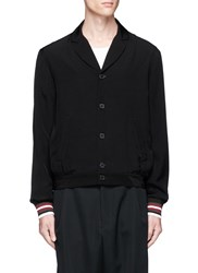 Mcq By Alexander Mcqueen Stripe Cuff Blouson Shirt Jacket Black
