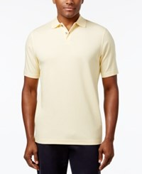 Tasso Elba Men's Supima Blend Cotton Polo Only At Macy's Lemon Butter
