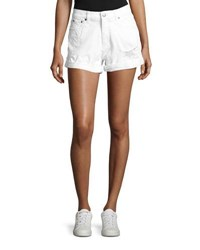 Cheap Monday Donna Distressed Shorts White
