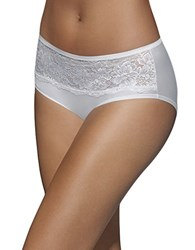Bali One Smooth U Comfort Indulgence Satin And Lace Hipster White