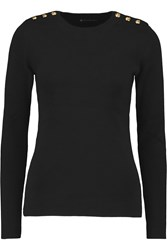 Petit Bateau Marin Ribbed Knit Cotton Top Black