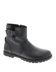 Birkenstock Stowe Leather Ankle Boots Black