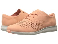 Cole Haan 2.0 Grand Laser Wing Oxford Nectar Nubuck Vapor Grey Women's Lace Up Casual Shoes Orange