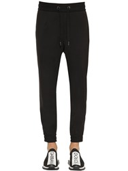 Dolce And Gabbana Wool Blend Canvas Pants Black