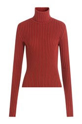 Vetements Ribbed Turtleneck Pullover Red