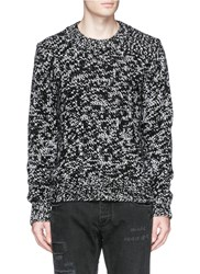 Dolce And Gabbana Mixed Knit Cashmere Sweater Black