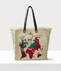 Vivienne Westwood World Map Utility Shopper Natural