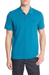 Victorinox Swiss Armyr Men's Army 'Vx Stretch' Tailored Fit Pique Polo George Blue