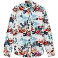 Gitman Brothers Vintage End. X Christmas Shirt Red