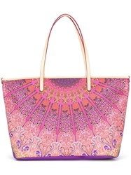 Etro Scarf Print Tote Bag Pink Purple