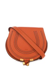 Chloe Marcie Small Leather Cross Body Bag Tan