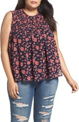 Lucky Brand Plus Size Women's Ruched Yoke Georgette Tank