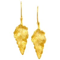 London Road 9Ct Yellow Gold Leaf Earrings