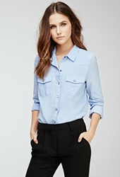 Forever 21 Snap Buttoned Western Shirt