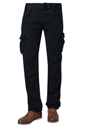 Schott Nyc Army Cargo Trousers Black Black Denim