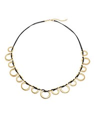 Saks Fifth Avenue Goldtone Large Hoop String Necklace