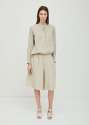 Sofie D'hoore Parade Linen Cropped Pant Natural