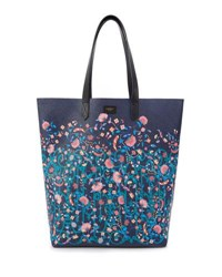 Liberty London Garden Gates Floral Tote Bag Pink Pattern