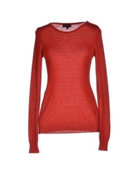 Jeckerson Sweaters Brick Red