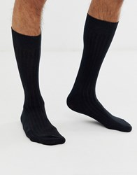 Selected Homme Rib Sock In Black
