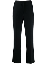 Alexander Mcqueen Cropped Cigarette Trousers Black