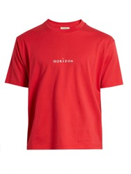Everest Isles Horizon Cotton Jersey T Shirt Red
