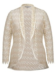 Chesca Lace Shrug With Satin Trim Gold