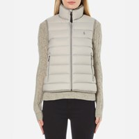 Polo Ralph Lauren Women's Lightweight Nylon Puffa Vest Chrome Grey