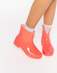 Asos Galaxy Glow In The Dark Wellies Coral Orange