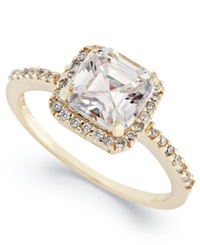 B. Brilliant 18K Gold Over Sterling Silver Ring Cubic Zirconia Ring 4 3 4 Ct. T.W.