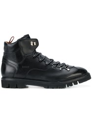 Bally Charls Hiking Boots Calf Leather Leather Rubber Black