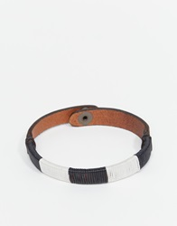 Jack And Jones Jack And Jones Leather And Cotton Bracelet Brown