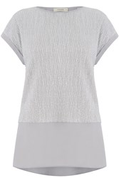 Oasis Crinkle Double Layer Tee Silver