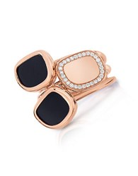 Roberto Coin Black Jade Diamond And 18K Rose Gold Ring