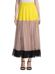 N 21 Colorblock Tulle Maxi Skirt Multicolor