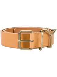 Y Project Buckle Belt Brown