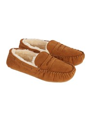 Howick Slip On Casual Slippers Chestnut
