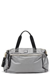Hayden Harnett 'Voyager' Water Resistant Nylon Weekend Bag Grey