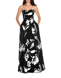 Decode 1.8 Floral Printed Fit And Flare Dress Black White