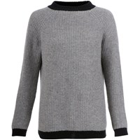 Orwell Austen Cashmere Chunky Sweater Speckled Grey And Black Black Grey